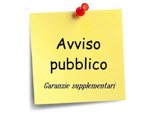 avviso garanzie supplementari